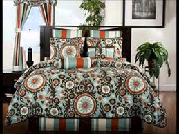 Midtown Teal and Brown Paisley Print Bedding by Victor Mill