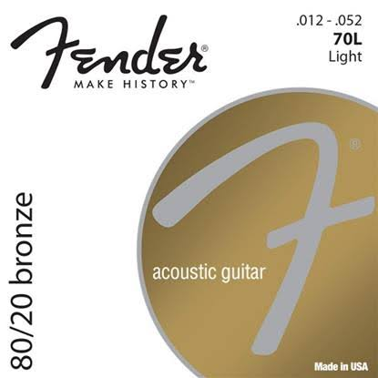 Fender 80/20 Bronze Acoustic Guitar Strings Light 12-52