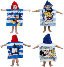 Mickey Mouse Bath Set Hooded Towels by Mickey Mouse Poncho Towel Towel