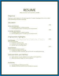 Template For First Resume Templates Job Free Teenager