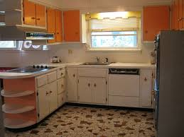 1960s Starburst White And Orange Laminate Kitchen