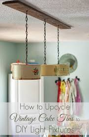 how to upcycle vintage cake tins to diy light fixtures