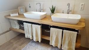 waschtisch holz eiche massiv baumkante fensterbank bad wc neu