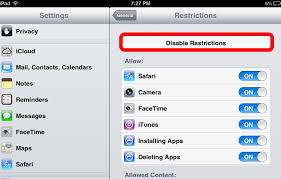 How To Change Your iPad s Restrictions Passcode iPad Kids