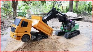 Trucks, Excavator, Dump Truck For Children | Dump Trucks, Tow Truck ...