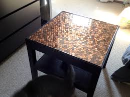 heart maine home how to make a penny top table diy