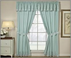 Lace Curtains Panels With Attached Valance by Curtain Ruffled Priscilla Curtains Wayfair Intended For