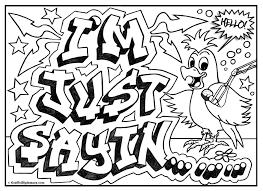 Im Just Sayin Graffiti Coloring Page