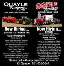 Quayle Pumping & Trucking Inc. - Forest City, Iowa | Facebook Top 5 Largest Trucking Companies In The Us Find Truck Driving Jobs W Hiring Experienced Driver Testimonials Roehljobs Opportunities New Market Ia Cdl Garys Job Board Inexperienced Traing Overview Roehl Transport Heres What You Need To Know About Crst Expiteds Traing Program Practical Route Mileage Pay Explained Blog Stutsman Transportation Hills Iowa And Shipping Local Quayle Pumping Inc Forest City Facebook
