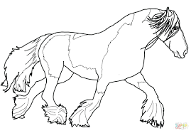 Printable Horse Head Coloring Pages Gypsy Page Free Picture Realistic Full Size