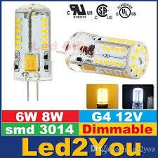 best smd 3014 g4 led bulbs light 12v 6w 8w dimmable led spot bulbs