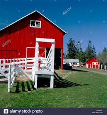 Red Barn On A Clear Sunny Day At The Charles W. Wilson Ranch Near ... Red Barn Washington Landscape Pictures Pinterest Barns Original Boeing Airplane Company Building Museum The The Manufacturing Plant Exterior Of A Red Barn In Palouse Farmland Spring Uniontown Ewan Area Usa Stock Photo Royalty And White Fence State Seattle Flight Interior Hip Roof Rural Pasture Land White Fence On Olympic Pensinula