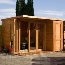 100 Contemporary Summer House 12 X 8 FT Wooden TG House W Integrated Side