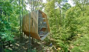 100 Tree House Studio Wood A Twisting Treehouse By Modus Studio Blooms Above The Forest Floor