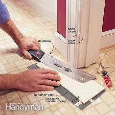 Elegant Vinyl Flooring Installation How To Install A Sheet Floor The Family Handyman