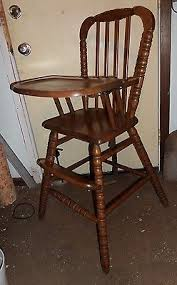 Kelsyus Go With Me Chair Brownblue by Vtg Jenny Lind Med Cherry Wood Baby Highchair High Chair Sears