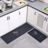 2 stück rutschfeste küchenmatte fußmatte badezimmer läufer teppich löwenzahn grau einfach küchenbodenmatte bestickt