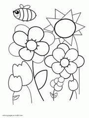 Simple Spring Color Pages For Preschool