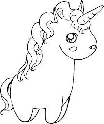 Easy Coloring Pages For Kids Unicorn Page As Well Free