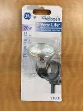 ge halogen 20w outdoor landscape lighting light bulb 12v mr16 ebay