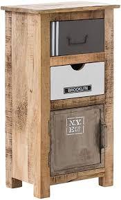 woodkings bad unterschrank pune holz natur rustikal und metall grau weiß badschrank badmöbel badezimmer badezimmerschrank design