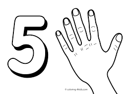5 Numbers Coloring Pages For Kids Printable Free Digits Books