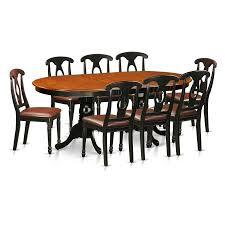 Dining Table Set Walmart by East West Furniture Plainville 9 Piece Keyhole Dining Table Set