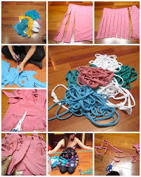 How To Make Yarn With Used T Shirts Step By DIY Tutorial Instructions Thumb