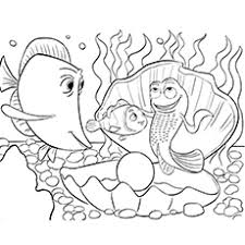 Nemo With Friends In Sea Coloring Pages