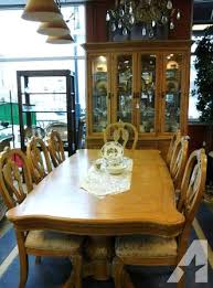 Burled Ash Dining Room Set With Matching
