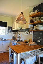 Houzz Pendant Lighting Kitchen Rustic With Chalkboard Paint Counter Stools