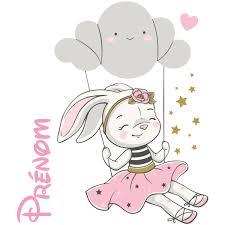 Luna Lindo El Conejo Conejo Luna Medio Iluminar Blanca