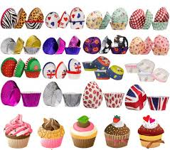 40 60 100PC CUPCAKE CASES PAPER FOIL COATED 3 SIZES GOLD SILVER