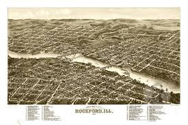100 Paper Mill House Vintage Map Of Rockford Illinois 1880
