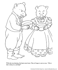 Goldielocks And The Three Bears Coloring Pages