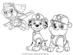 Coloring Pages Paw Patrol Rubble And Page