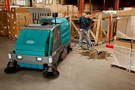 8300 battery powered ride on scrubber sweeper tennant company