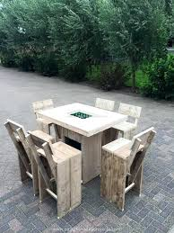 Pallet Patio Furniture Set Table For Sale