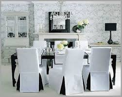 Black Dining Chair Slipcovers Pretty Elegant Christmas Room Covers Of