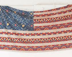 Handmade Boho Style American Flag Wall Hanging