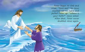 Peter And Jesus Walking Water Coloring Page Image Search Results