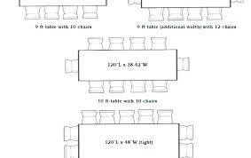 Dining Tables Table Dimensions For 12 Length Persons