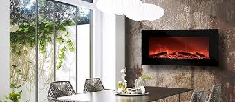 A Dining Room With Fireplace