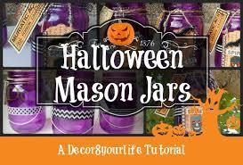 Halloween Washi Tape Ideas by Halloween Decorations Halloween Mason Jar Tutorial Youtube