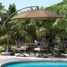 Walmart Patio Tilt Umbrellas by Furniture Costco Cantilever Umbrella For Most Dramatic Shade