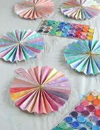 Make Paper Pinwheels And Paint With Watercolors Great Art Activity For Teens Tweens
