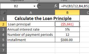 Sinking Fund Factor Calculator by Calculate The Loan Principle In Microsoft Excel