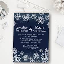 Affordable Dark Blue Snowflake Winter Wedding Invitation EWI368 Invitations