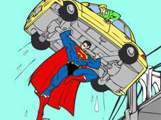 Superman Cartoon Coloring Game