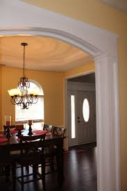 Two Tone Walls No Chair Rail by Dining Room With Custom Millwork Archway Chair Rail And Panel